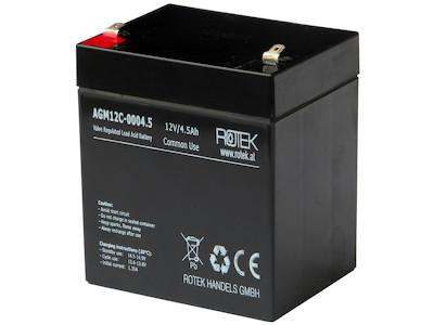 Wartungsfreie Bleisäure Batterie 12 V / 4,5 Ah, VRLA12-0004.5