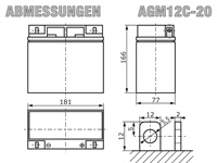 AGM12C-20 - Abmessungen