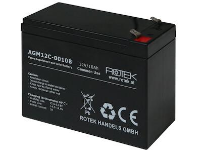 Wartungsfreie Bleisäure Batterie 12 V / 10 Ah, VRLA12-0010B