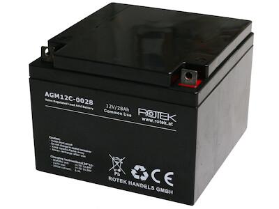 Wartungsfreie Bleisäure Batterie 12 V / 28 Ah, VRLA12-0028