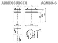 AGM6C-6 - Abmessungen