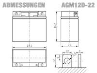 AGM12D-22 - Abmessungen