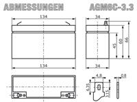 AGM6C-3.3 - Abmessungen