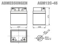 AGM12C-45 - Abmessungen