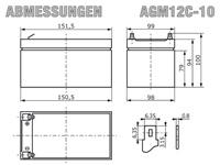 AGM12C-10 - Abmessungen