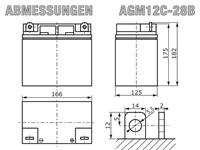 AGM12C-28B - Abmessungen