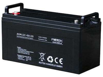 Wartungsfreie Bleisäure Batterie 12 V / 120 Ah, VRLA12-0120