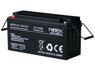 Wartungsfreie Bleisäure Batterie 12 V / 150 Ah, VRLA12-0150