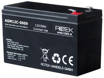 Wartungsfreie Bleisäure Batterie 12 V / 9 Ah, VRLA12-0009