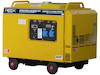 Dieselgenerator 6,0 kW, 230 Volt, 1-Phasig, 4-Takt Dieselmotor, Elektrostart, SuperSilent, elektronisch geregelte Ausgangsspannung, Version D1007