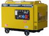 Dieselgenerator 6,0 kW, 230/400 Volt, 3-Phasig, 4-Takt Dieselmotor, Elektrostart, elektronisch geregelte Ausgangsspannung, SuperSilent, digitale Voltmeter, Frequenzanzeige, Betriebsstundenzähler mit Hintergrundbeleuchtung, Version D0908