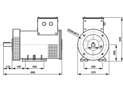 Rotek STC20-3 - Masszeichnung