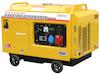 Benzingenerator 6,0 kVA, 230/400 Volt, Elektronische Spannungsregelung, 3-Phasig, 4-Takt Benzinmotor, Elektrostart, SuperSilent , Digitales Voltmeter, Betriebsstundenzähler und Herzmeter, Version DK0801