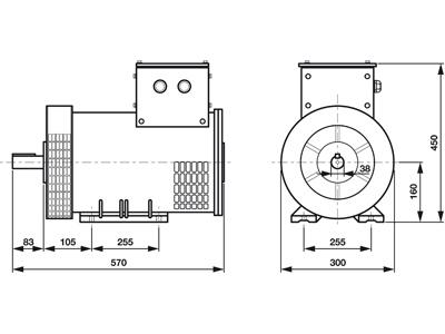 Rotek STC5-3 - Masszeichnung