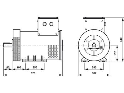 Rotek STC8-3 - Masszeichnung