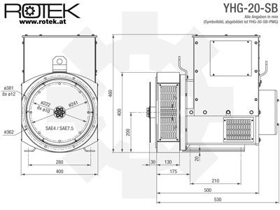 YHG-20-SB Masszeichnung