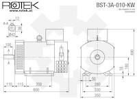 BST-3A-010-KW Abmessungen