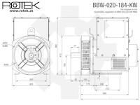 BBW-020-184-KW Abmessungen