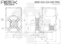 BBW-034-224-KW-PMG Abmessungen