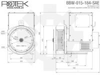 BBW-015-184-SAE Abmessungen