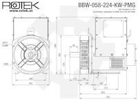 BBW-058-224-KW-PMG Abmessungen