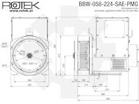 BBW-058-224-SAE-PMG Abmessungen