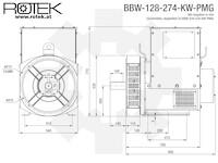 BBW-128-274-KW-PMG Abmessungen