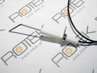 Piezozünder inkl. Zündelektrode mit Keramikisolator für Gasheizgeräte, Keramikisolator Detail