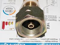 Gasregler mit Schlauchbruchsicherung, Flaschenanschluss