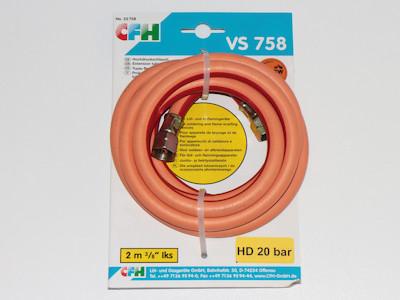 Hochdruckschlauch für Gasheizgeräte, Löt- und Abflammgeräte