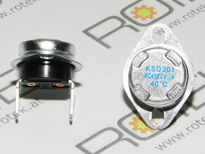 Thermoschalter 40°C, Schliesser, 400VAC, 4.7A