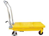 Hubtisch mit 500 kg Kapazität und 880 mm Tischhöhe, SHTM-A-0500-340-0880-PU, Seite Tisch unten
