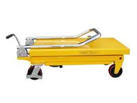 Hubtisch mit 500 kg Kapazität und 880 mm Tischhöhe, SHTM-A-0500-340-0880-PU, Seite zusammengeklappt