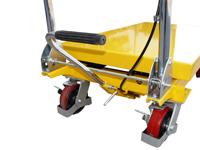 Hubtisch mit 500 kg Kapazität und 880 mm Tischhöhe, SHTM-A-0500-340-0880-PU, Detail Fusspedal