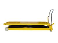 Hubtisch mit 1000 kg Kapazität und 1400 mm Tischhöhe,SHTM-A-1000-370-1400-PU, Seite Tisch unten