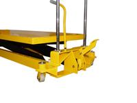 Hubtisch mit 1000 kg Kapazität und 1400 mm Tischhöhe,SHTM-A-1000-370-1400-PU, Detail Fusshebel