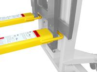 Gabelverlängerung mit 1524 mm Länge für 100 mm breite Staplergabeln, STP-ZB-GV1015, Detailansicht
