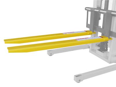 Gabelverlängerung mit 1830 mm Länge für 125 mm breite Staplergabeln, STP-ZB-GV1218, Seitenansicht
