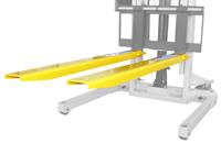 Gabelverlängerung mit 1830 mm Länge für 125 mm breite Staplergabeln, STP-ZB-GV1218,  Schrägansicht