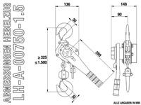 LH-A-00750-1.5 - Abmessungen