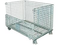 Palettencontainer 800 x 600 x 640 mm, SB-A-0800, Front halb umgeklappt