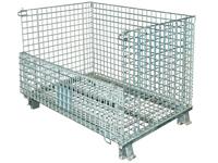 Palettencontainer 2000 x 1200 x 890 mm, SB-A-2000, Front halb umgeklappt