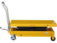 Hubtisch mit 800 kg Kapazität und 1500 mm Tischhöhe, SHTM-A-0800-445-1500-PU, Seite Tisch unten