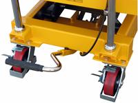 Hubtisch mit 800 kg Kapazität und 1500 mm Tischhöhe, SHTM-A-0800-445-1500-PU, Detail Fusspedal