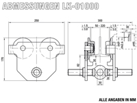 LK-01000 - Abmessungen