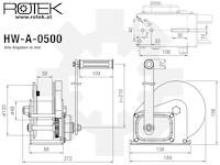 Rotek - Konsolen-Seilwinde HW-A-0500 mit 10m langem Drahtseil - D5mm ...