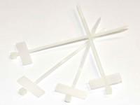 Kabelbinder mit Beschriftungsfeld 25x6mm Quer, L=100mm, B=2.5mm