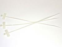 Kabelbinder mit Beschriftungsfeld 25x6mm Quer, L=200mm, B=2.5mm