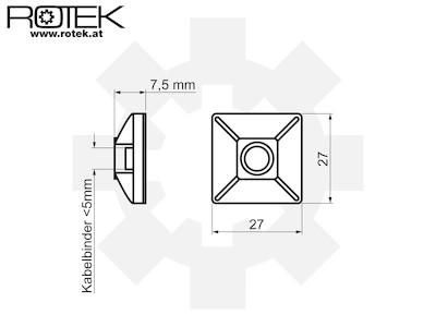 Klebesockel für Kabelbinder