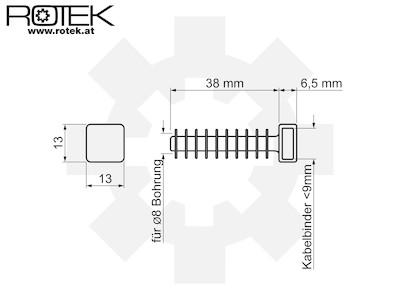 Einschlagsockel Kabelbinderdübel